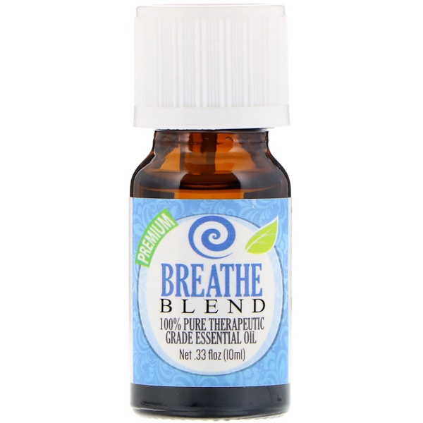 Healing Solutions, 100% Pure Therapeutic Grade Essential Oil, Breathe Blend, 0.33 fl oz (10ml)