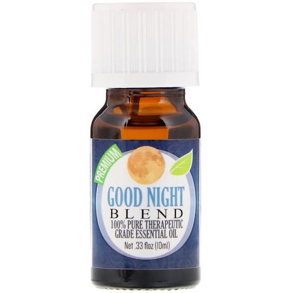 Healing Solutions, На 100% чистое эфирное масло терапевтического качества, смесь «спокойной ночи», 10 мл (Discontinued Item)