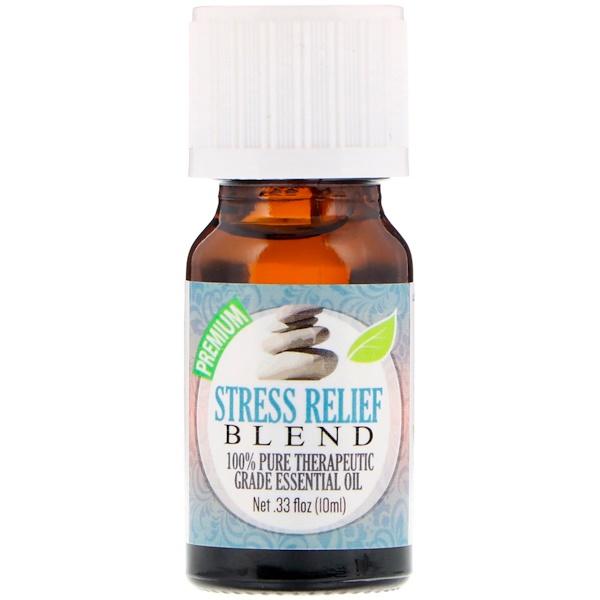 Healing Solutions, На 100% чистое эфирное масло терапевтического качества, смесь «снятие стресса», 10 мл (Discontinued Item)
