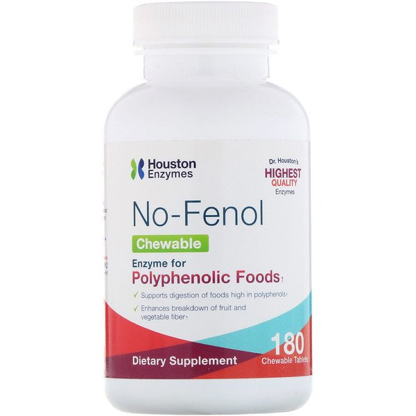 Houston Enzymes, No-Fenol, 180 Chewable Tablets (Discontinued Item)