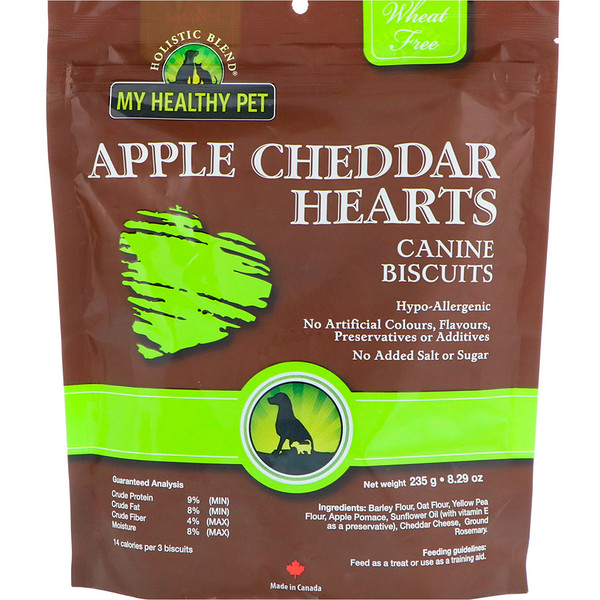 Holistic Blend, My Healthy Pet, Apple Cheddar Hearts, Canine Biscuits, 8.29 oz (235 g) (Discontinued Item)