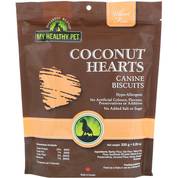 Holistic Blend, My Healthy Pet, Coconut Hearts, Canine Biscuits, 8.29 oz (235 g) (Discontinued Item)