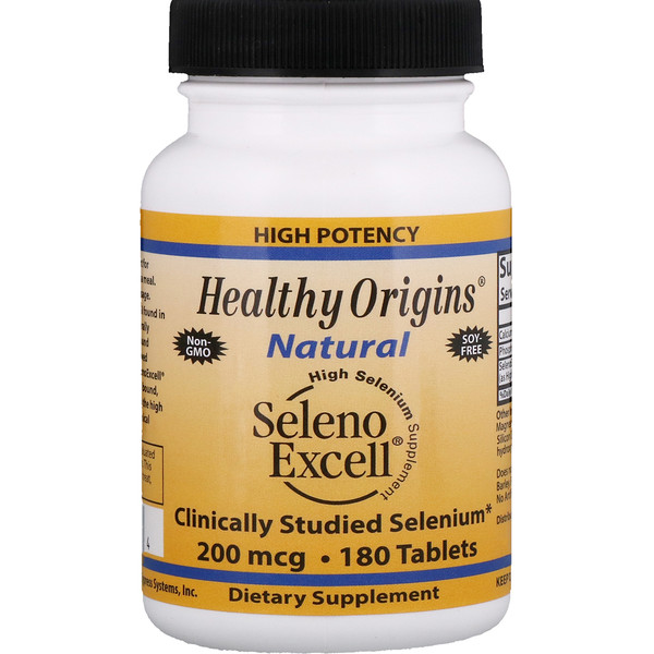 Healthy Origins, Seleno Excell, 200 мгк, 180 таблеток (Discontinued Item)