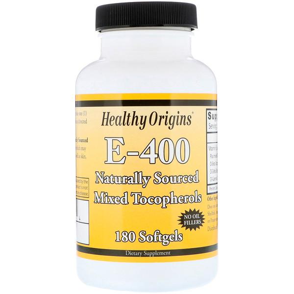 Healthy Origins, E-400, 180мягких таблеток (Discontinued Item)
