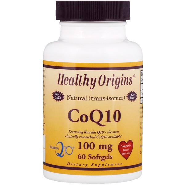 Healthy Origins, Коэнзим Q10 (Kaneka Q10), 100 мг, 60 мягких таблеток (Discontinued Item)