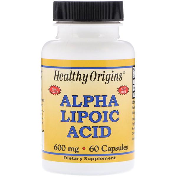 Healthy Origins, Альфа-липоевая кислота, 600 мг, 60 капсул (Discontinued Item)