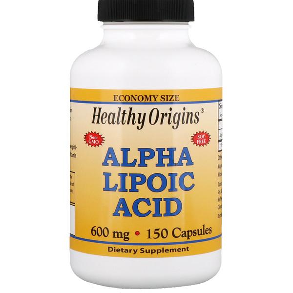 Healthy Origins, Альфа-липоевая кислота, 600 мг, 150 капсул (Discontinued Item)