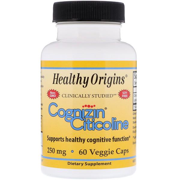 Healthy Origins, Когнизин (цитиколин), 250 мг, 60 вегетарианских капсул (Discontinued Item)