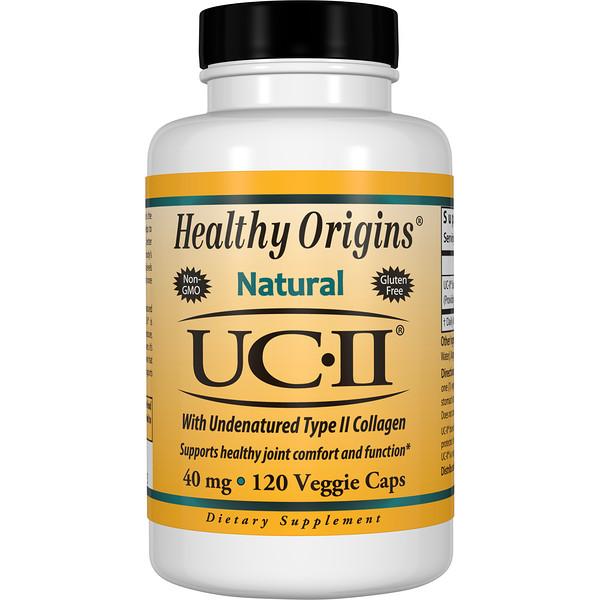 Healthy Origins, UC-II с неденатурированным коллагеном типа II, 40 мг, 120 вегетарианских капсул (Discontinued Item)