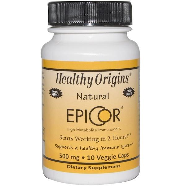 Healthy Origins, EpiCor, 500mg, 10 Veggie Caps (Discontinued Item)