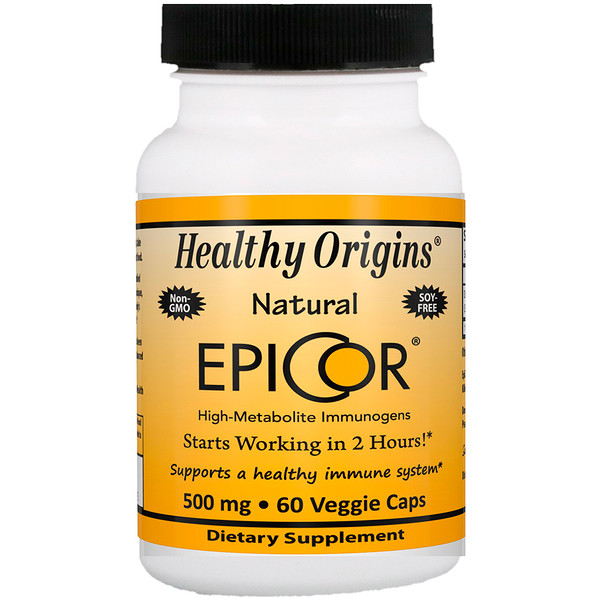 Healthy Origins, EpiCor, 500 мг, 60 капсул (Discontinued Item)