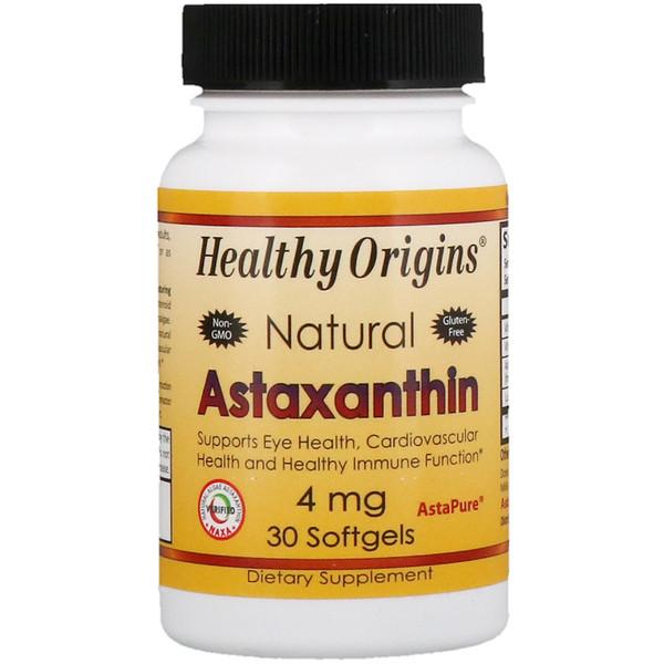 Healthy Origins, Астаксантин, 4 мг, 30 мягких таблеток (Discontinued Item)