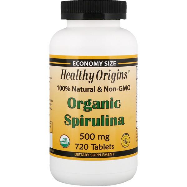 Healthy Origins, Органическая спирулина, 500 мг, 720 таблеток (Discontinued Item)