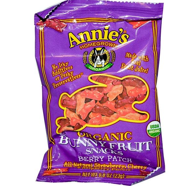 Annie's Homegrown, Органические фруктово-ягодные снеки в виде кролика, 0.8 унций (23 г) (Discontinued Item)