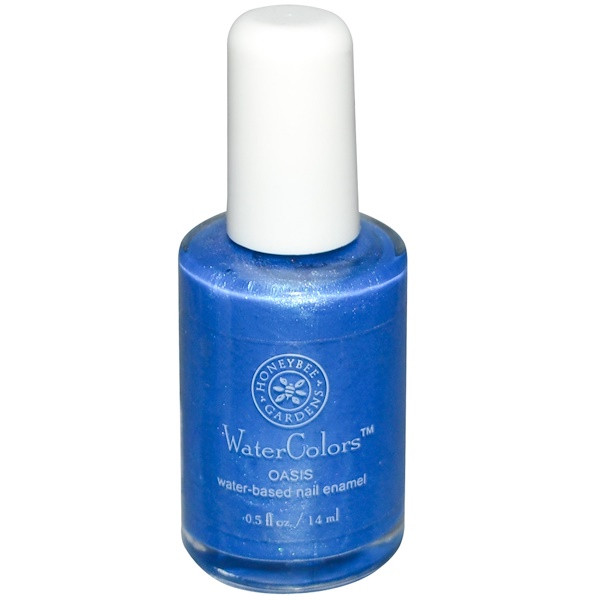 Honeybee Gardens, WaterColors, Water-Based Nail Enamel, Oasis, 0.5 fl oz (14 ml) (Discontinued Item)