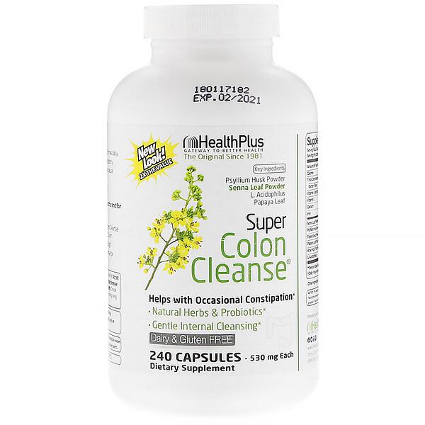 Супер-очиститель толстой кишки, 530 мг, 240 капсул