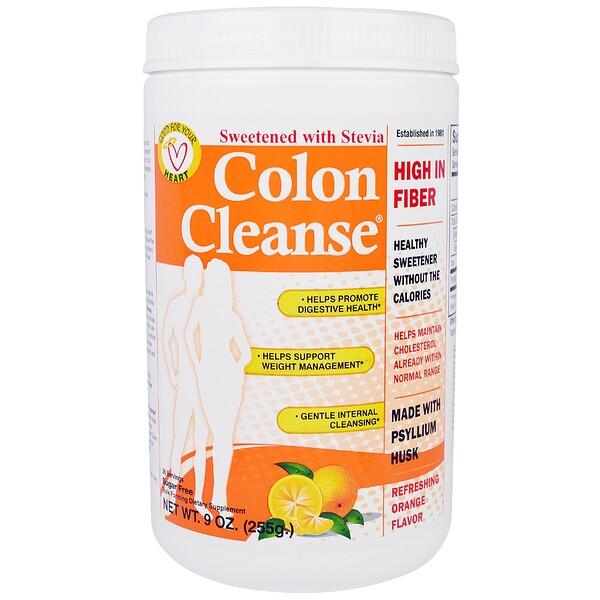 """""""Чистка кишечника"""", средство для чистки толстого кишечника, с освежающим апельсиновым вкусом, 9 унций (255 г)"""