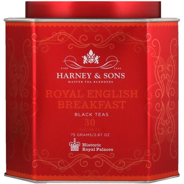 Королевский английский завтрак, черный чай, 30 пакетиков, по 2,67 унц. (75 г) каждый