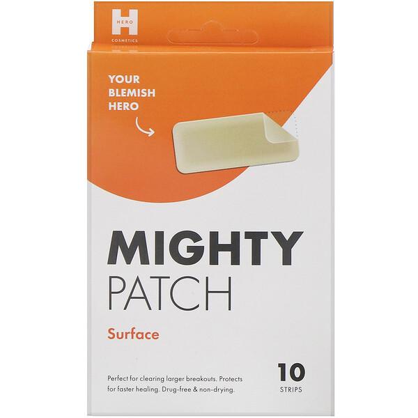 Mighty Patch, прямоугольные, 10пластырей
