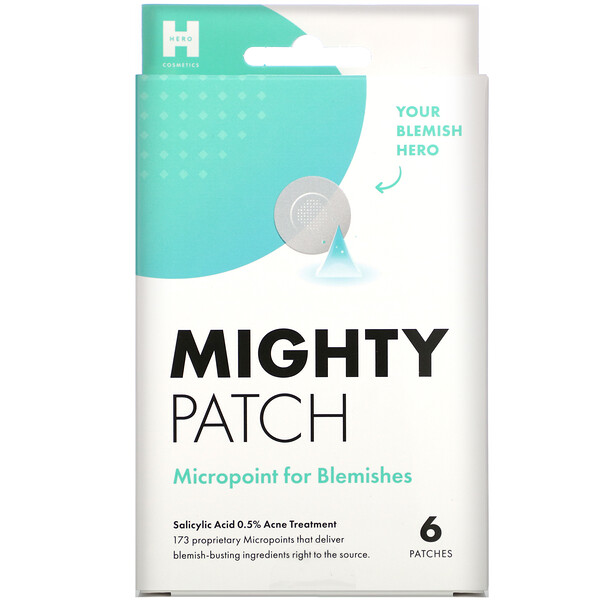 Mighty Patch, Micropoint for Blemishes, 6 Patches