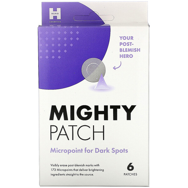 Mighty Patch, Micropoint, патчи против темных кругов, 6шт.