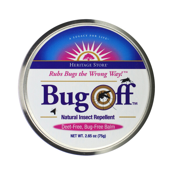 Bug Off, Natural Insect Repellent, 2.65 oz (75 g)