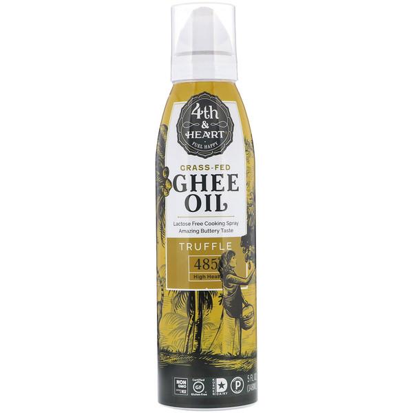 4th & Heart, Ghee Oil Spray, Truffle, 5 fl oz (148 ml) (Discontinued Item)