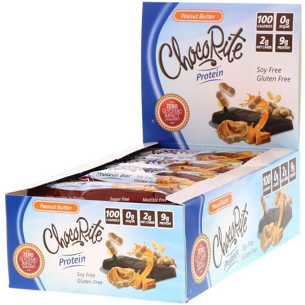 ChocoRite Protein Bar, Peanut Butter, 16 Bars, 1.2 oz (34 g) Each