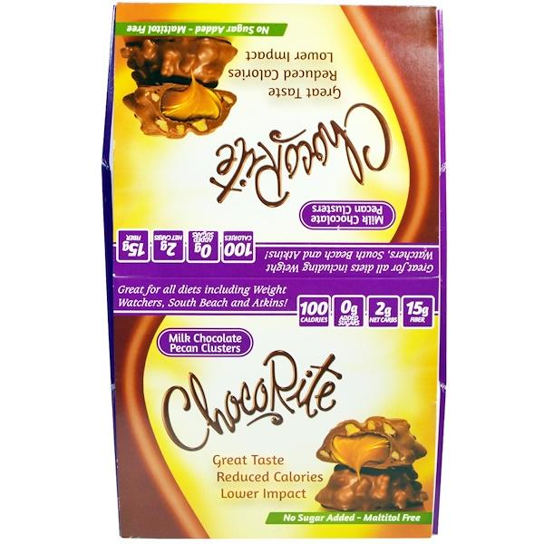 HealthSmart Foods, Комочки из молочного шоколада и орехов пекан ЧокоРайт, 16 шт., по 1,13 унции (32 г) каждый (Discontinued Item)
