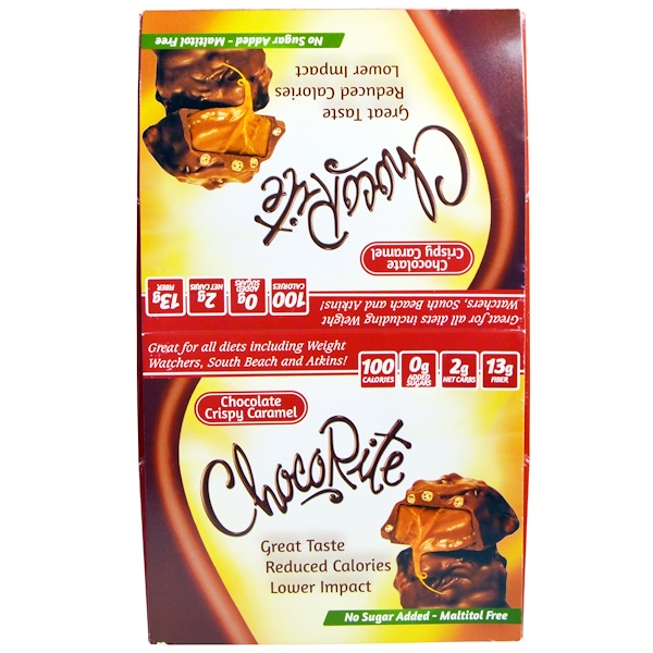 Чокорайт, шоколадная хрустящая Карамель, 16 шт., 1,13 унции (32 г)