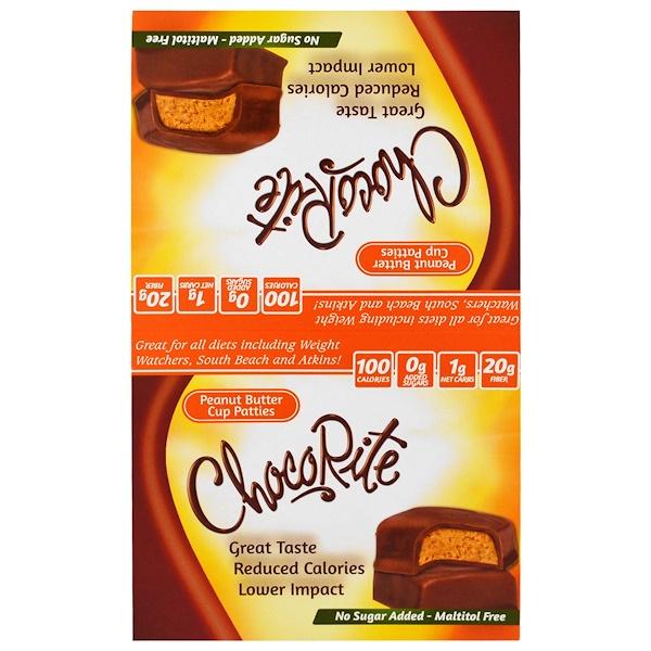 ChocoRite, Peanut Butter Cup Patties, 16 Count, 1.27 oz (36 g) Each