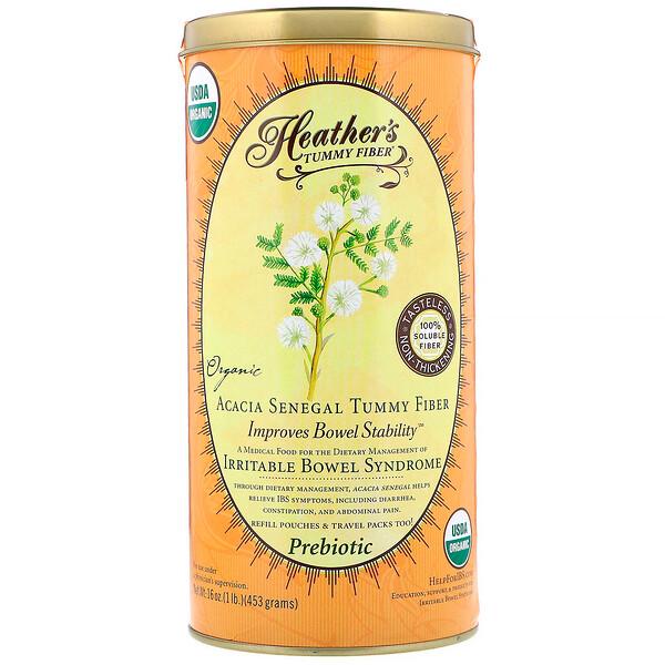 Heather's Tummy Care, Tummy Fiber, растворимая клетчатка органической сенегальской акации, 453г (16унций)