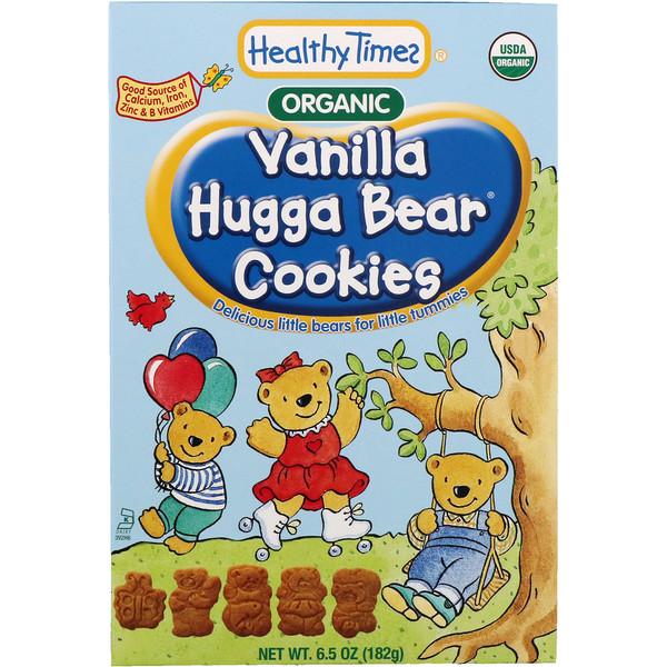 Healthy Times, Органическое печенье Hugga Bear, ванильное, 6,5 унций (182 г) (Discontinued Item)