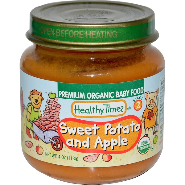 Healthy Times, Premium Organic Baby Food, Sweet Potato and Apple, Stage 2, 4 oz (113 g) (Discontinued Item)
