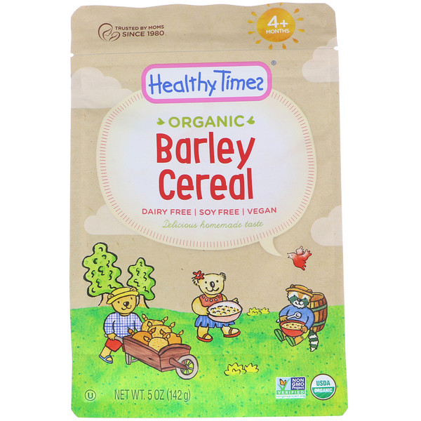 Healthy Times, Хлопья из органического ячменя, для младенцев от 4месяцев, 142г (5унций) (Discontinued Item)