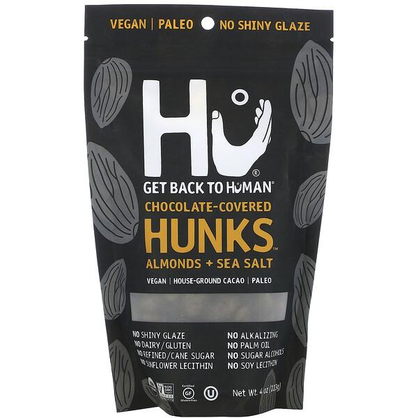 Hu, Chocolate Covered Hunks, Almonds + Sea Salt, 4 oz (113 g)