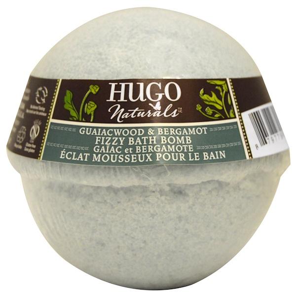 Hugo Naturals, Пенящаяся «бомба» для ванной, гваяковое дерево и бергамот, 6 унций (170 г) (Discontinued Item)