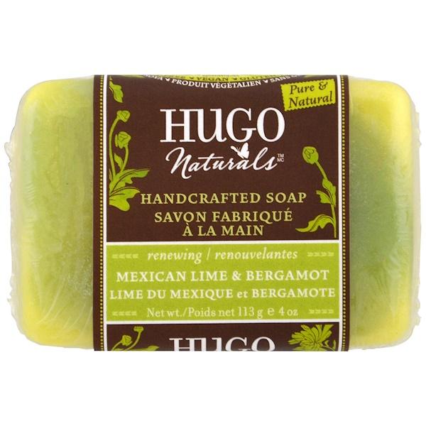 Hugo Naturals, Мыло ручной работы, мексиканский лайм и бергамот, 4 унции (113 г) (Discontinued Item)