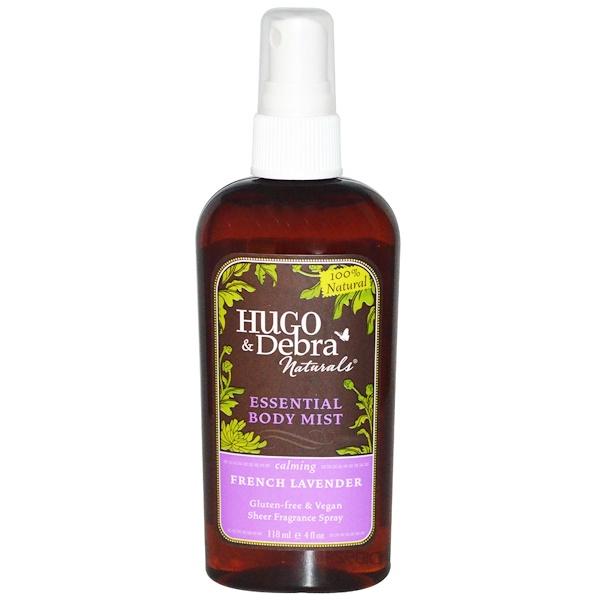 Hugo Naturals, Эфирный спрей для тела, французская лаванда, 4 жидких унции (118 мл) (Discontinued Item)