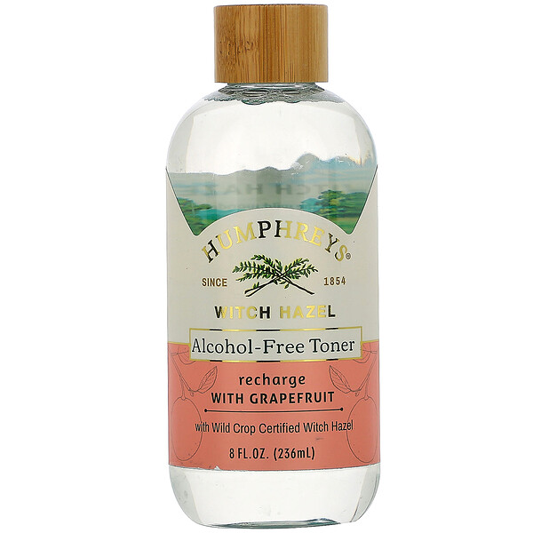 Humphrey's, Witch Hazel, Alcohol Free Toner with Grapefruit, Recharge, 8 fl oz (236 ml)