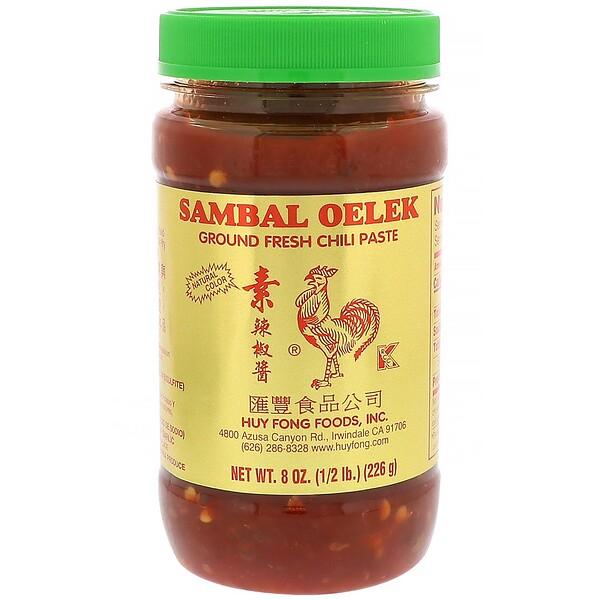 Huy Fong Foods Inc., Sambal Oelek, свежая паста чили, 8 унций (226 г) (Discontinued Item)