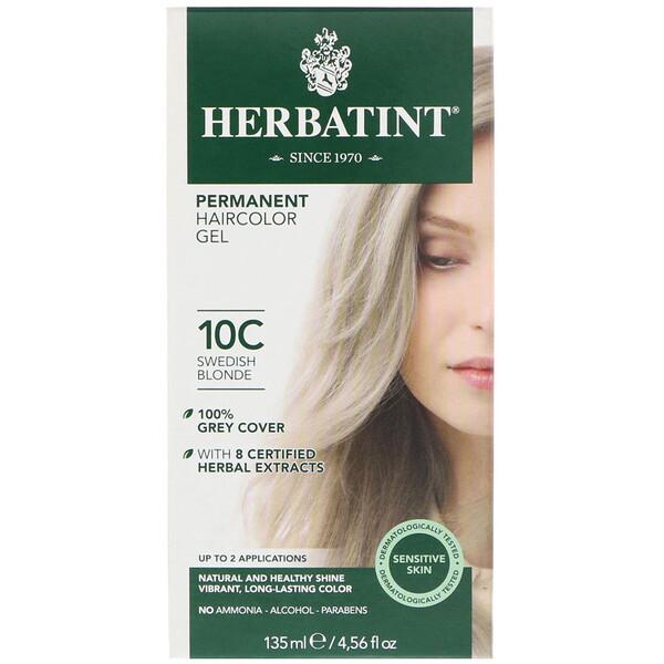 Перманентная гель-краска для волос, 10С, шведский блонд, 135 мл