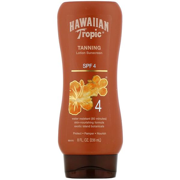 Tanning, Lotion Sunscreen, SPF 4, 8 fl oz (236 ml)