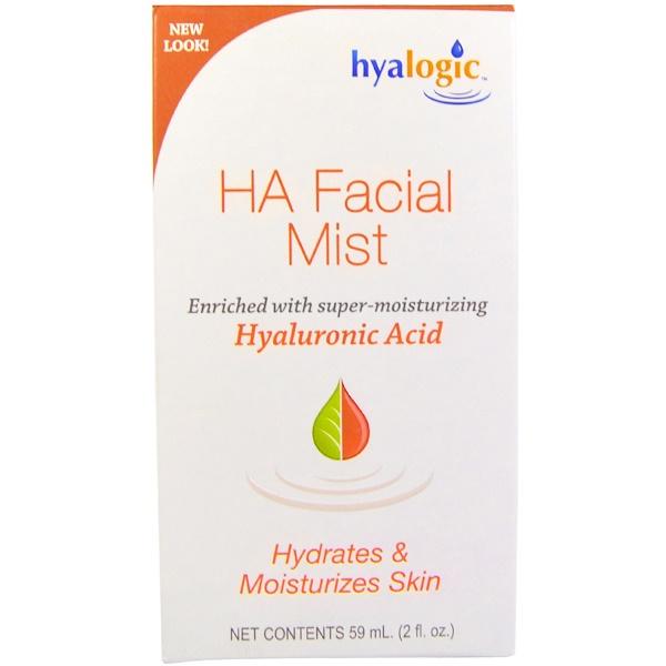 Hyalogic, HA, спрей-дымка для лица с гиалуроновой кислотой, 2 унции (59 мл) (Discontinued Item)