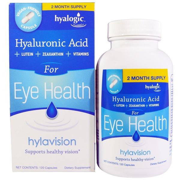 Hylavision, гиалуроновая кислота, 120 капсул