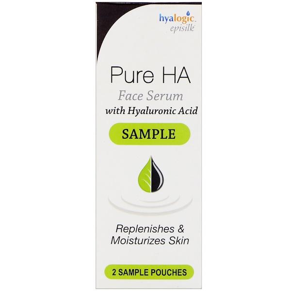 Hyalogic, Episilk, сыворотка для лица Pure HA с гиалуроновой кислотой, 2 пробника (Discontinued Item)