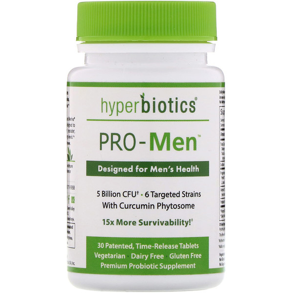 Hyperbiotics, PRO-Men, 30 Time Release Tablets
