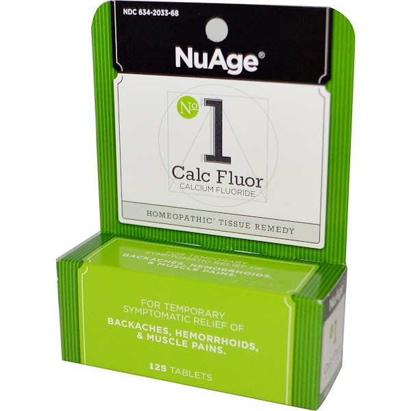 Hyland's, NuAge, № 1 Calc Fluor (фторид кальция), 125 таблеток (Discontinued Item)