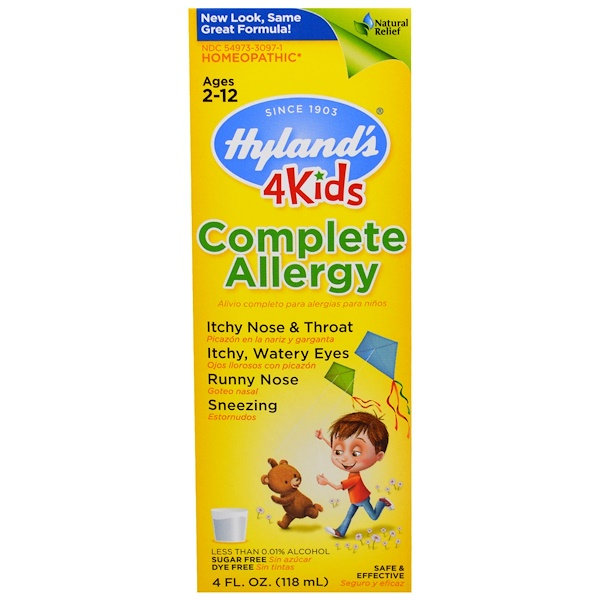 Hyland's, Complete Allergy 4 Kids, 4 жидких унций (118 мл) (Discontinued Item)