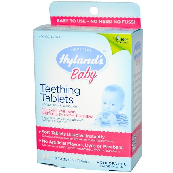 Hyland's, Продукция для детей, Таблетки для прорезывания зубов, 135 таблеток (Discontinued Item)